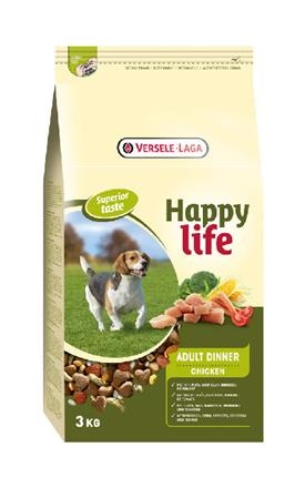 Happy Life - Adult Chicken Dinner 3 kg