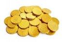 Monety czekoladowe Euro centy 100szt czekoladki FV