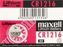 1x BATERIA LITOWA MAXELL CR1216 1216 DL ECR FV
