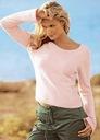 Śliczny Damski sweter różowy 36/38 S M - bawełna