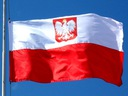 Flaga Polski Polska z Godłem Bandera 90x150 Maszt