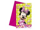 Zaproszenie na urodziny Myszka Minnie x6 6479