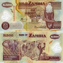~ Zambia 500 Kwacha P-43c 2004 POLIMER Słoń UNC