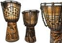 Bębenek Bongos Djembe Drewno Instrument Bęben 30cm