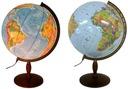 Globus 420 mm PODŚWIETLANY 2w1 DREWNO * PREZENT *