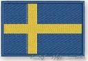 NASZYWKA termo - FLAGA SZWECJA, SWEDEN - haft