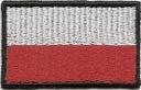 Flaga POLSKI Naszywka Naszywki HAFT 50x30mm RZEP