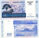 # MADAGASKAR - 100 ARIARY - 2004 - P86 - UNC