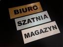 TABLICZKA blaszka znak DOWOLNY NAPIS 20x7 cm Rodzaj tablicy drukowane