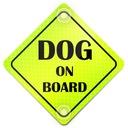 DOG ON BOARD ODBLASK NEON NA AUTO PRZYSSAWKI