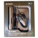 Mysz-Ka Graczy A4Tech Optyczna +Podkładka X7 Gamer Rozdzielczość myszy 400 dpi