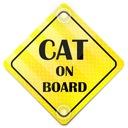 ODBLASK NA AUTO SAMOCHÓD CAT ON BOARD PRZYSSAWKI