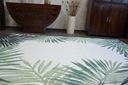 Dywan SIZAL 120x170 JUNGLE LIŚCIE zieleń #B643 Kolor biały kremowy odcienie zieleni