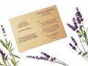 Zaproszenie na Ślub EKO ślubne rustykalne +koperta Wykończenie papieru matowe
