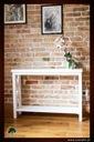 Konsolka konsola prowansalska krzyże z połką Kolor mebla Biały