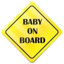 ODBLASKOWY BABY ON BOARD * MAGNES * INFORMACYJNY
