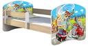Łóżko dziecięce 160X80 + materac DĄB SONOMA ACMA