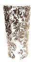 Wazon szklany tuba oramenty czarny 200902