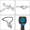HAZET 9012EL Klucz pneumatyczny 1/2 udarowy 1700 Waga (z opakowaniem) 5 kg