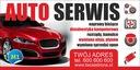 GOTOWE Wzory Reklam AUTO SERWIS 2,5mX1m Waga (z opakowaniem) 1 kg