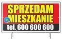 Baner Reklamowy Sprzedam DOM/Działkę/Mieszkanie Oczkowanie co 25 cm