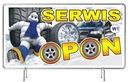 Solidny Baner reklamowy 3x1m Wulkanizacja OPONY Producent B&B