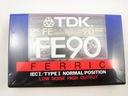 kaseta magnetofonowa TDK FERRIC 90 min NOWA FOLIA