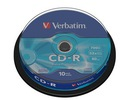 Płyty CD-R Verbatim CD-R 52x 700MB 10P CB DL Ex