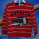 H&M CARS śliczny SWETEREK chłopięcy auta 86/92