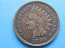 nr17 stara Moneta USA One Cent 1899 !! Indianin !!