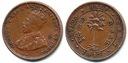 Cejlon 1/2 Cent - 1917r ... Monety