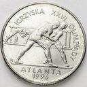 2 zł, złote 1995, Atlanta Zapasy, stan 1-