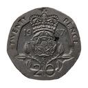 20 pensów 1987 Wielka Brytania Elżbieta II st.III