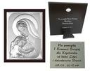 OBRAZEK srebrny Matka Boska Ślub Chrzest 20x26