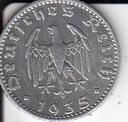50 Reichspfennig  1935 J  - Niemcy