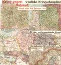 MAPA -- FRONTY I-WOJNY ŚWIATOWEJ -- 1916 -- NIEMCY