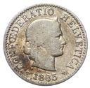 Szwajcaraia - moneta - 5 Rappen 1885 - 2