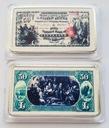 USA PIĘKNA SZTABKA 50$ AG KOLOR PLATED POLECAM