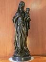 Madonna Maria i dzieciątko Jezus - duży brąz