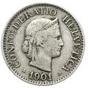 Szwajcaraia - moneta - 10 Rappen 1901 - 2 - RZADKA