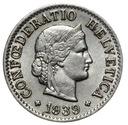 Szwajcaraia - moneta - 5 Rappen 1939