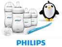 Zestaw startowy AVENT Natural butelki +pingwinek
