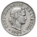 Szwajcaraia - moneta - 5 Rappen 1906 - 2 - RZADKA