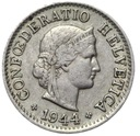 Szwajcaraia - moneta - 5 Rappen 1944