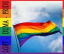 Flaga LGBT Duża 90 x 150 cm + trytytki do montażu