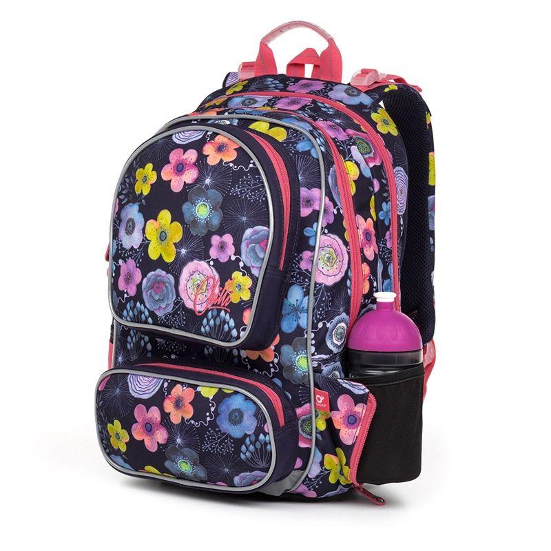 bc1839269732e Plecak dwukomorowy dla dziewczynki Topgal kwiatki 7173387246 ...