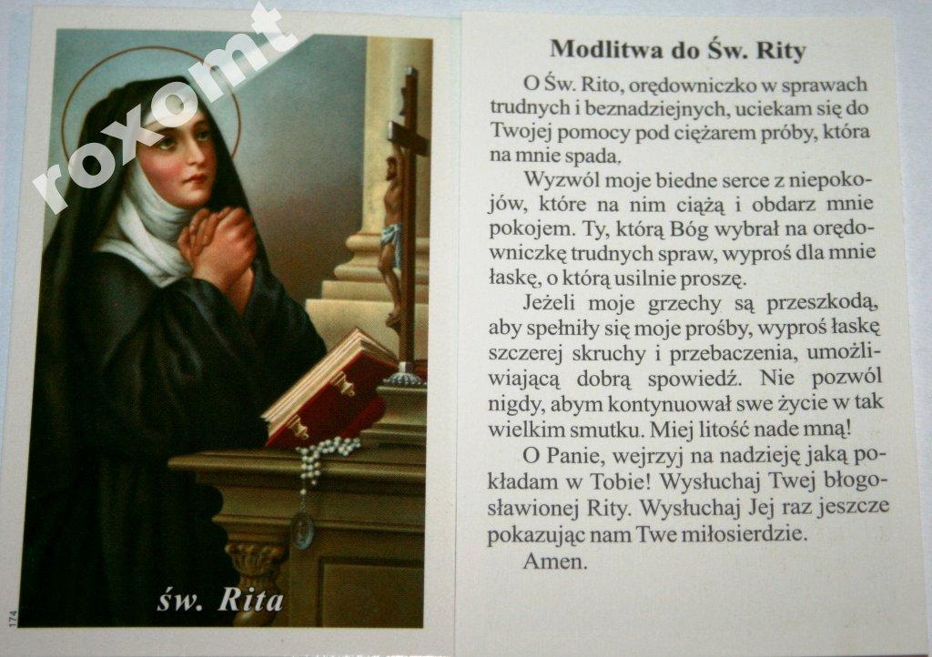 św Rita Z Cascia Obrazek Modlitwa Do św Rity 6157310681 Allegropl