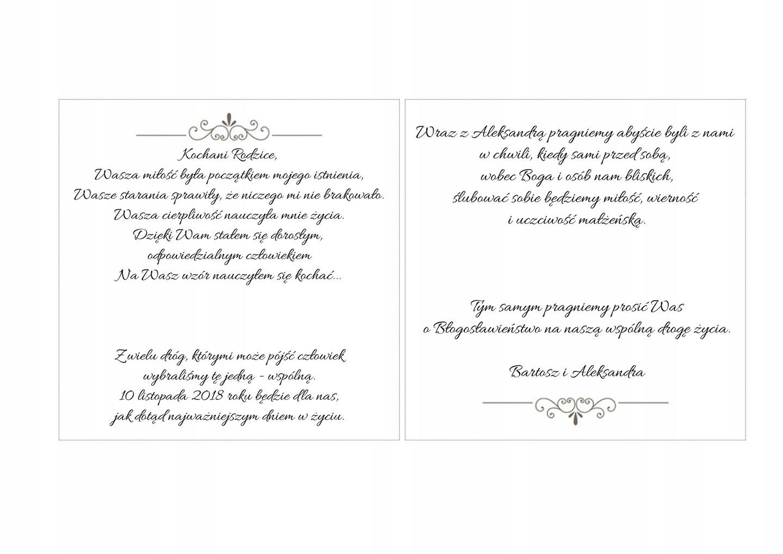 Zaproszenie Dla Rodziców Na ślub Błogosławieństwo 7175957865