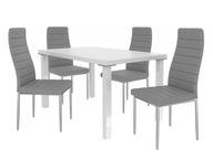 Zestaw stół 4 krzesła nogi POLEROWANE ALUMINIUM