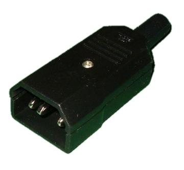 Разъем штекер компьютерный 3pin AC кабель FV(0499) доставка товаров из Польши и Allegro на русском